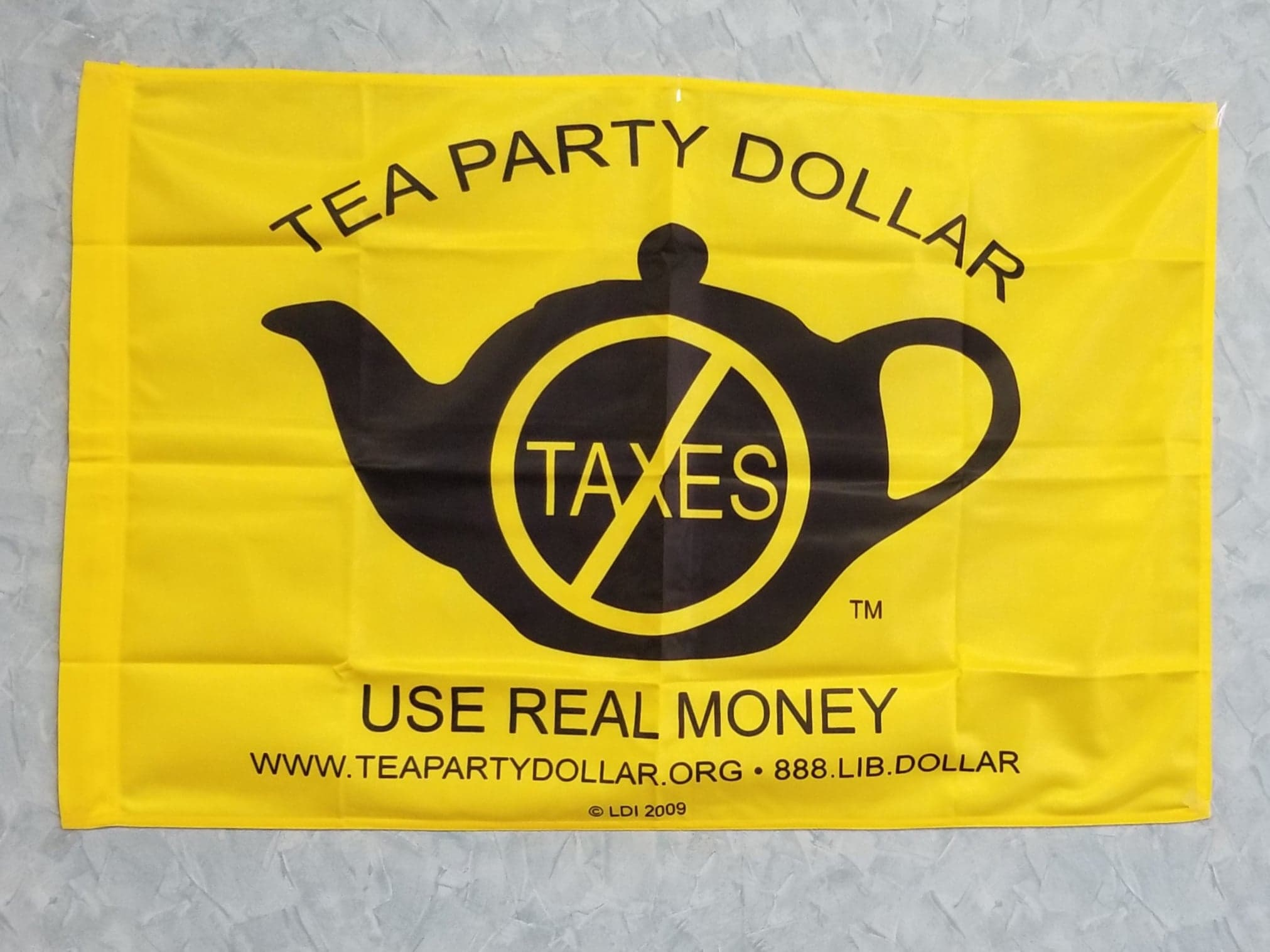 Tea Party Dollar Flag Collectible