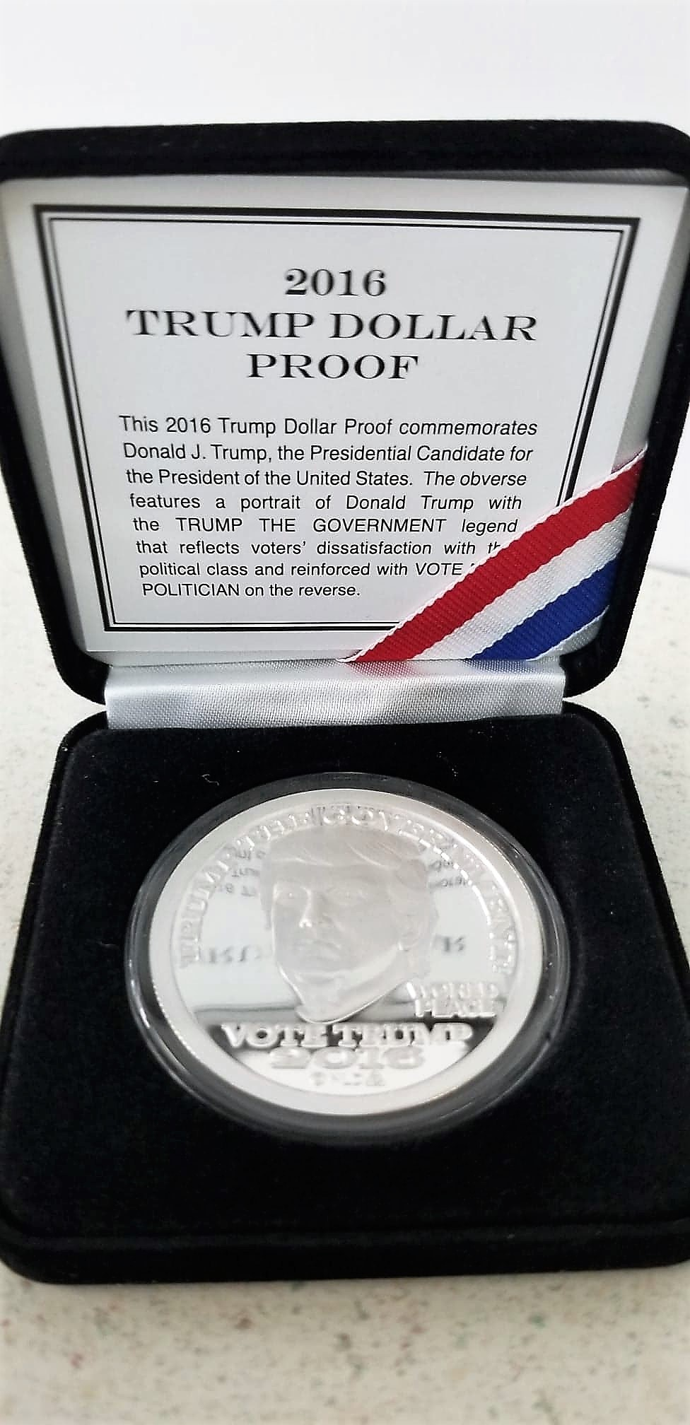 2016 PROOF Silver Trump Vote Dollar