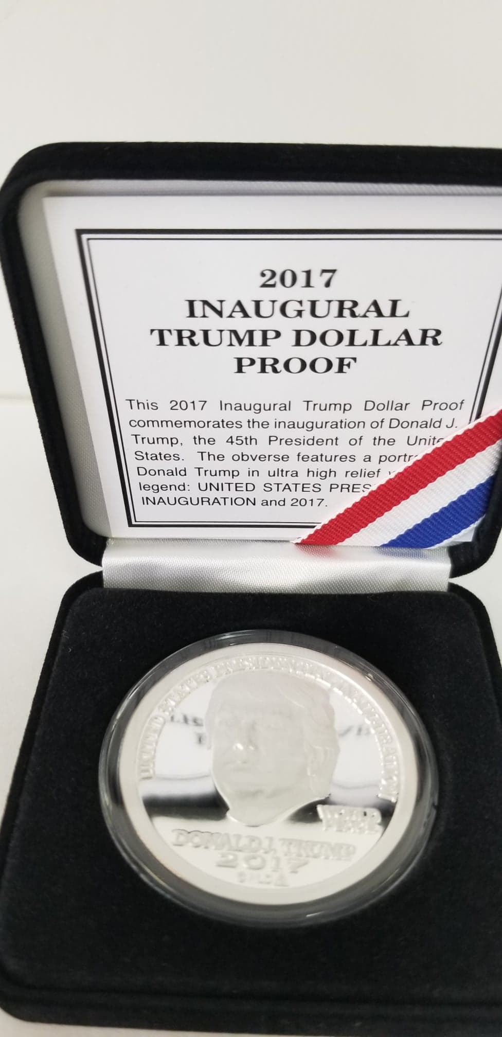 2017 PROOF Silver Trump Inaugural Dollar
